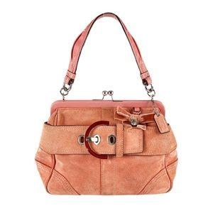 Coach VTG Collector Mini Doctor Bag Kisslock Blush Pink Framed Kisslock 8A25